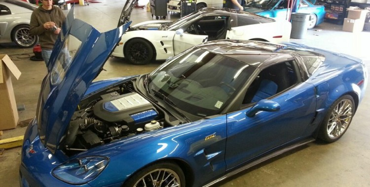Two Corvette ZR1s at Dynospeed Racing Memphis, TN