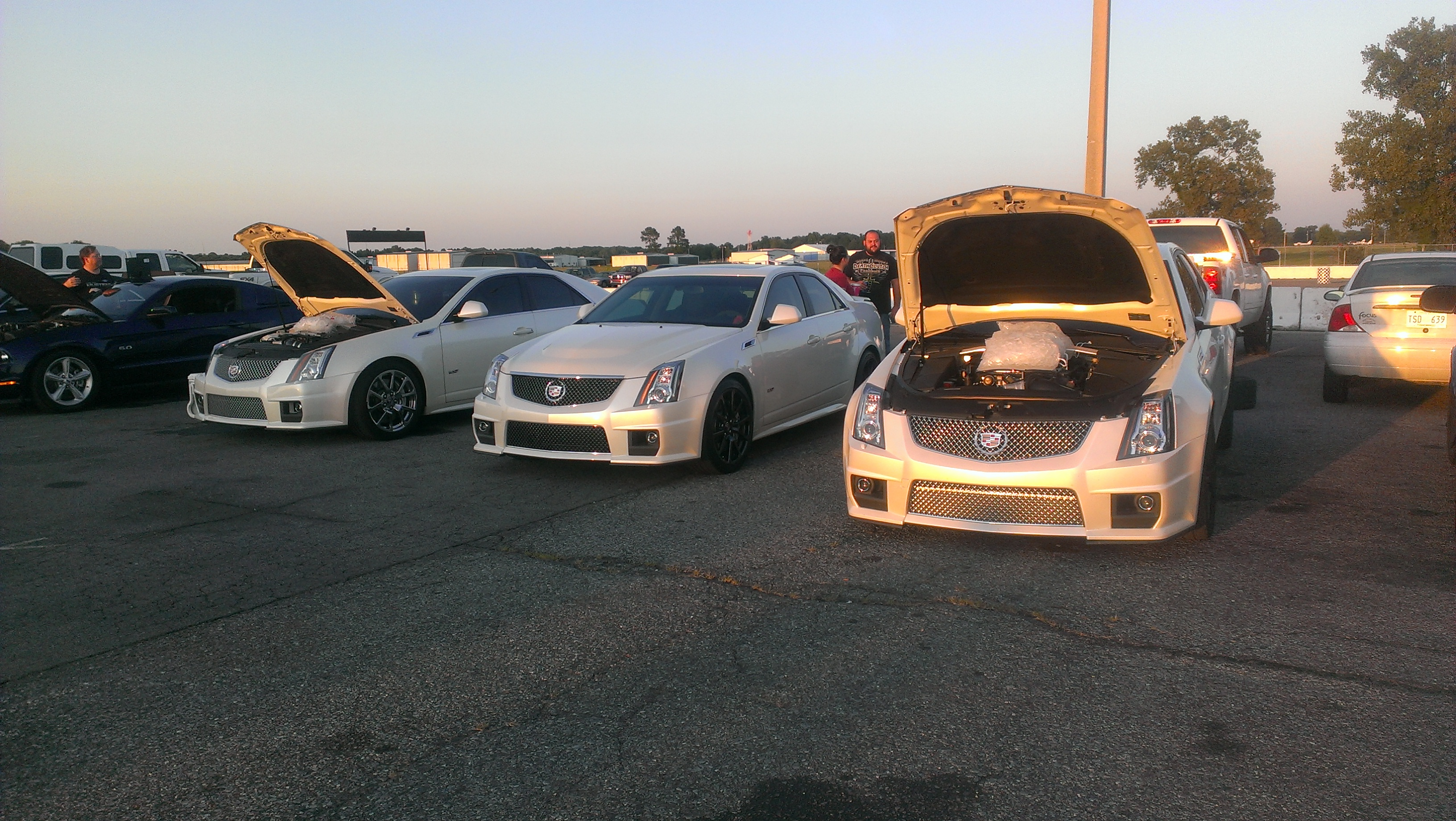 Cadillac CTSV Sedan White Diamond 2  Dynospeed Racing