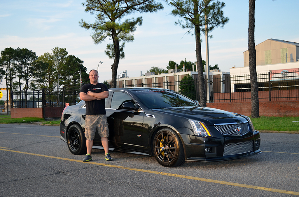 Josh Elam and his 1100 hp 2011 CTS-V built and tuned at his shop, Dynospeed Racing.